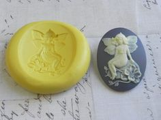 Woodland Fairy / Fairie  40mm x 30mm  Flexible Silicone by Molds, $4.99