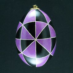 Pysanky Ukrainian Easter Egg Purple 40 by JustEggsquisite on Etsy, $20.00