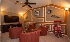 Friday night is movie night in, especially if you had a room like this one from Lennar Houston!