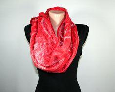 Felted Scarf COBWEB SCARF Delicate Fancy scarf Felted by Filtil #feltedscarf #cobwebscarf #cobweb #red #redscarf #scarf #accessories #felted #fiberart #fiberatrscarf #filtil