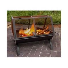 Fire Pit Patio Furniture Heater Outdoor Fireplace Grill Grate Burner BBQ Firepit #OutdoorFireTable