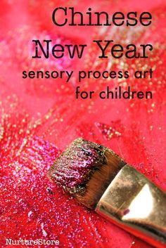 Explore colour and texture with this sensory process art Chinese New Year art activity for children