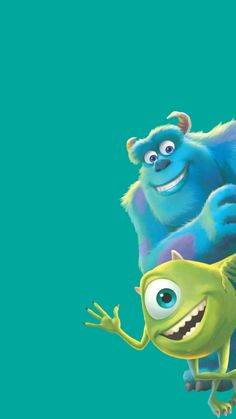 Sulley & Mike Wazowski (Monsters Inc) Simpson Wallpaper Iphone, Disney Phone Wallpaper, Bear Wallpaper, Iphone Background Wallpaper, Locked Wallpaper, Aesthetic Iphone Wallpaper, Monsters Ink, Disney Monsters, Cartoon Monsters