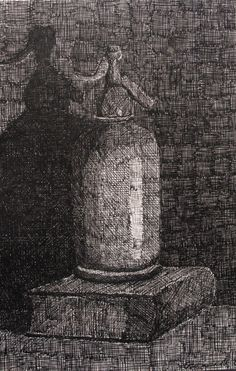 Bodegón del natural a tinta y plumilla. 17x25. Oliver García. 2006