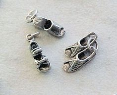Charms, Fashion: Casual Open-Toe Sandals Sterling Silver Charms (3) #Traditional