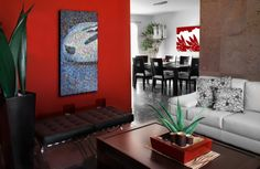 Exclusive Living Room Design with-Red Wall Painting Get Latest Designs & Decor Ideas for your Home at http://www.urbanhomez.com/decor Find Top Interior Designers for an awesome looking Kids Bedroom Decoration at http://www.urbanhomez.com/construction/interior_designer Find wooden flooring manufacturers and dealers  at http://www.urbanhomez.com/construction/wooden_floorings Find  Decorative Lamp Manufacturers and Dealers at…