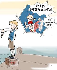 Before Hetalia: So some American colonists dumped tea into the harbor...meh.  After Hetalia: GO, Ameri-chan, GO! WOO!!!