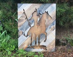 Rustic Native American Indian Silhouette Wall Art
