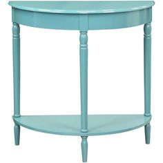 Convenience Concepts French Country Entryway Table ($69) ❤ liked on Polyvore featuring home, furniture, tables, accent tables, table, colored furniture, french farmhouse table, blue table, top table and french country style furniture