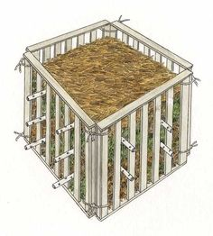 Expert Tips to Build a Compost Bin --Image Credit: John Burgoyne.(how can I use this idea, without using PVC pipe? Build Compost Bin, Garden Compost, Hydroponic Gardening, Hydroponics, Organic Gardening, Gardening Tips, Vegetable Garden, Container Gardening, Composting Bins