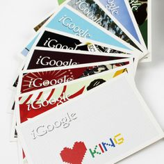 This design aims to promote the iGoogle launch. Its target audience is people aged 17-55 or anyone the uses the internet. The design uses the aesthetic styles of several different creative professionals. Each design is unique. But the position of the iGoogle logo creates brand identity across all the postcards and the use of the shadow allows the logo to stand out even against a white background.