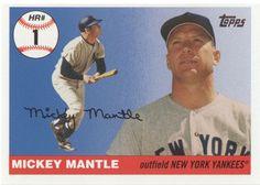 2006 Topps Mickey Mantle Home Run History #1 New York Yankees #NewYorkYankees