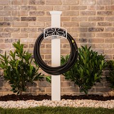 diy garden hose hanger with 4 x 4 painted wood finial hardware store hose holder outdoor cozy pinterest garden hose hanger hose hanger and hose