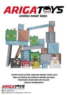 Kit Papercraft com 15 peças para montar e se divertir!! Vem apenas o CENÁRIO. Valor do kit: R$ 6,00.  www.facebook.com/arigatoys