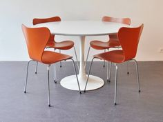 """Set of 4 """"Model 3107"""" or """"Butterfly"""" chairs by Arne Jacobsen for Fritz Hansen 