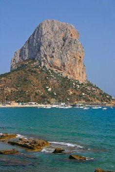 The famous rock of Peñónin Ifach en Calpe - Costa Blanca, Spain http://www.facebook.com/www.johndavid.co