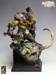 The Internet's largest gallery of painted miniatures, with a large repository of how-to articles on miniature painting Miniature Bases, Miniature Figurines, Grommash Hellscream, Warhammer Armies, Art Doll Tutorial, Imperial Dragon, Fantasy Dwarf, Fantasy Figures, Cool Monsters