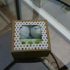 Golfball Box by Linda Parker 3d Craft, Craft Bags, Boxes And Bows, Creative Box, Gift Wrap Box, Treat Holder, Stamping Up, Mini Books, Holiday Crafts