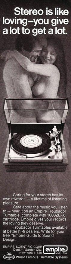 Empire turntable, 1973.