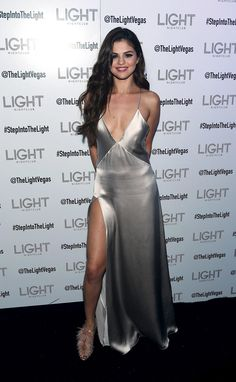 Selena Gomez Slays in a Silver Slip-Wmag