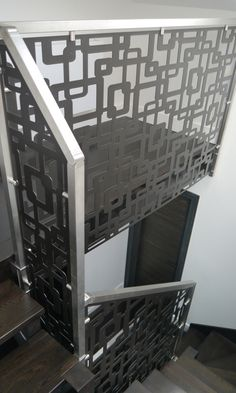 Laser cut balustrade infill - London - Links design by Miles and Lincoln. www.milesandlincoln.com