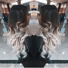 40 Glamorous Ash Blonde and Silver Ombre Hairstyles black to ash blonde ombre for long hair Ash Blonde Ombre Hair, White Ombre Hair, Long Ombre Hair, Ombre Hair Color, Balayage Hair, Brunette Lob, Black And Blonde Ombre, Platinum Blonde, Black To Silver Ombre