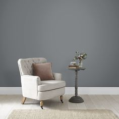 Coal Dust Resistance Ultra Matt Emulsion and intriguing, Coal Dust is the perfect rich grey to compliment any modern dé This beautiful neutral paint will add sophisticated glamour to your walls. Grey Bedroom Colors, Grey Bedroom Paint, Bedroom Boys, Brown Paint, Grey Paint, Silver Cushions, Stage Set Design, Graham Brown, Neutral Paint