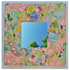 Melissas Motifs Mosaic Bird Mirror