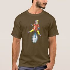 Funny Clown on Unicycle T-Shirt - click to get yours right now!