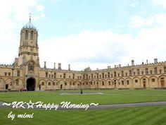 オックスフォード大学の中庭 / Oxford University in UK
