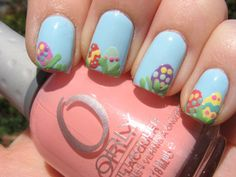Egg Hunt-  Get festive with an Easter egg hunt on your fingers.   Spotted at Kiss My Acetone.