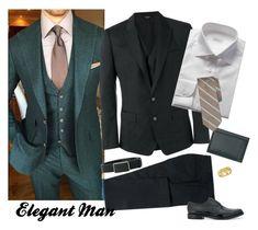 """Elegant Man"" by selene-cinzia ❤ liked on Polyvore featuring Dolce&Gabbana, Brioni, Marni, Brooks Brothers, Allurez, Pierre Balmain, men's fashion and menswear"