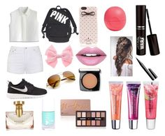 """Cute summer"" by carmeni1001 ❤ liked on Polyvore featuring Ally Fashion, Chicwish, NIKE, Victoria's Secret, Kate Spade, Fiebiger, Bulgari, Eos, Maybelline and Lancôme"
