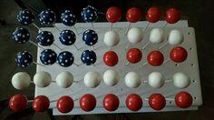 Cake pop inspired American flag.