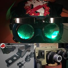 I picked up some goggles on Amazon for my #ghostbusters uniform. I have some 3D models that I can jazz them up with & I might have to incorporate these cheap finger lights -spooky!  #cosplay #3dprinting #ectogoggles #HawaiianGBs by clumsyblasterspix