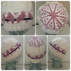 This hat has mostly 2 color colorwork which is good for an adventurous beginner. Knit in the round, needle size depends on the size of the hat you are making.