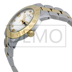 Poze Marc Jacobs Amy Silver Dial Two-Tone Steel Ladies Watch MBM3139