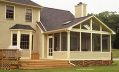 screened in porches with gable roof hip roof | screened porch is cool in the summer but can you also enjoy it in ...