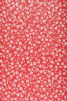 A lush red wallpaper decorated with a trail of delightful pink and white flowers. Red Wallpaper, Iphone Background Wallpaper, Flower Wallpaper, Cute Patterns Wallpaper, Background Patterns, Pattern Art, Pattern Paper, Red Pattern, Tela Do Iphone
