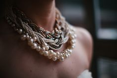 Beautiful layered necklace for the bride! | Melissa Kilner
