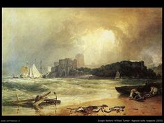 "William Turner ""Approdo nella tempesta"" 1801"