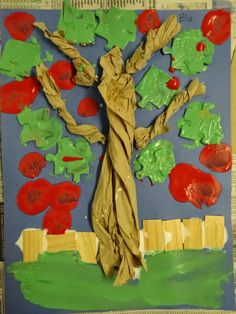 Inspired Montessori and Arts at Dundee Montessori: Paper Towel Apple Trees