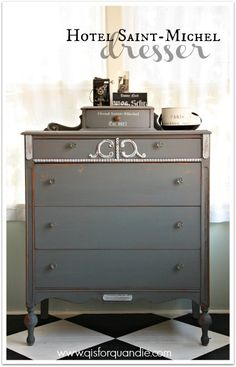 Dresser painted in MMS milk paint in Trophy