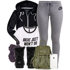 Untitled #579 by b-elkstone on Polyvore featuring H&M, NIKE, Aéropostale, UGG Australia and Topshop