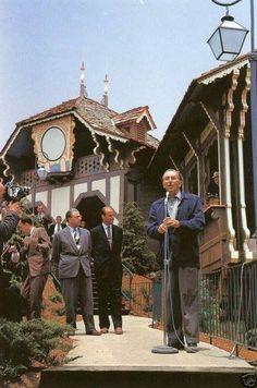 Walt Disney ~ Opening Ceremony Of The Disneyland Skyway.. June 23,1956.  Sadly Gone.