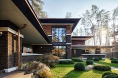 A Contemporary Prairie House by Yunakov Architecture in Kiev, Ukraine Building Layout, Building Design, Building A House, Frank Lloyd Wright, Japanese Architecture, Architecture Design, Business Architecture, Prairie House, Architect House