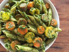 Pesto Pasta with Carrots