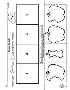 Apple-themed sequencing worksheet. Little ones will be thinking and…