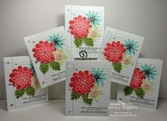 Flower Patch School Paper Card Becky Roberts, Stampin Up Catalog, Flower Patch, Autumn Theme, Flower Cards, Stampin Up Cards, Rubber Stamping, Card Making, Patches