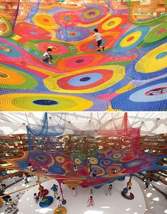 Crochet Playscapes: 13 Interactive String Art Installations